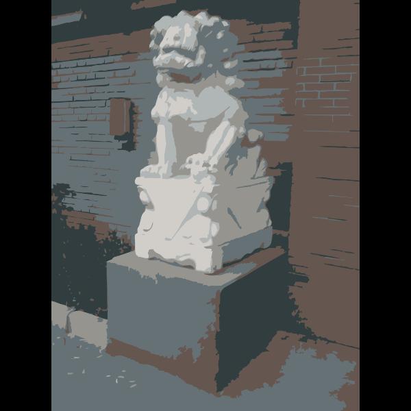 Chinese Guard Lion Statue outside AiWeiWei Studio