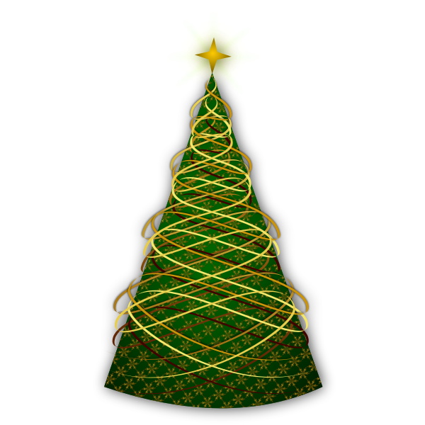 Clip art of celebration tree