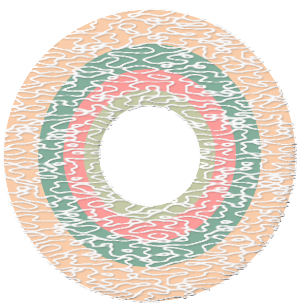 Vector graphics of hollow sweet candy