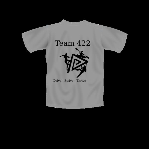 Team logo on T-shirt