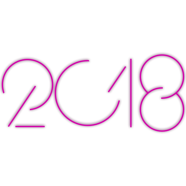 2018 year logotype