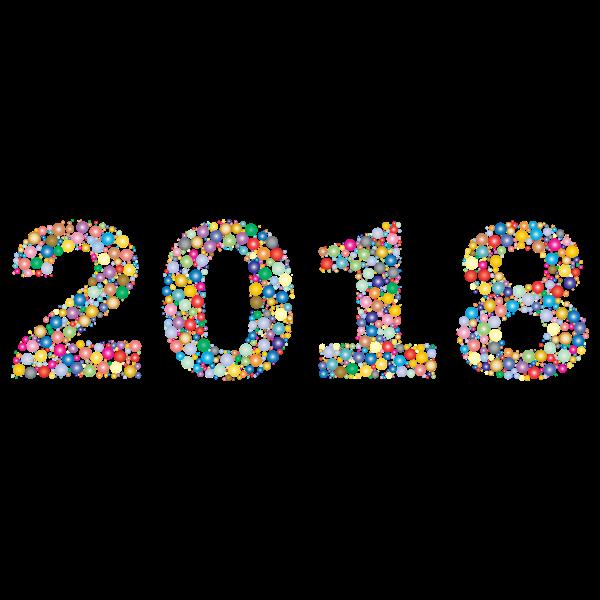 2018 Circles Prismatic Color Pattern