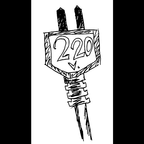 220 V symbol