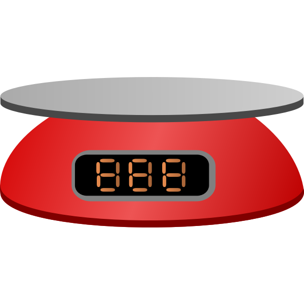 Red digital scale