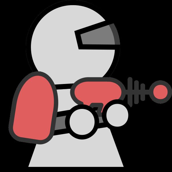 Ray gun character vector image
