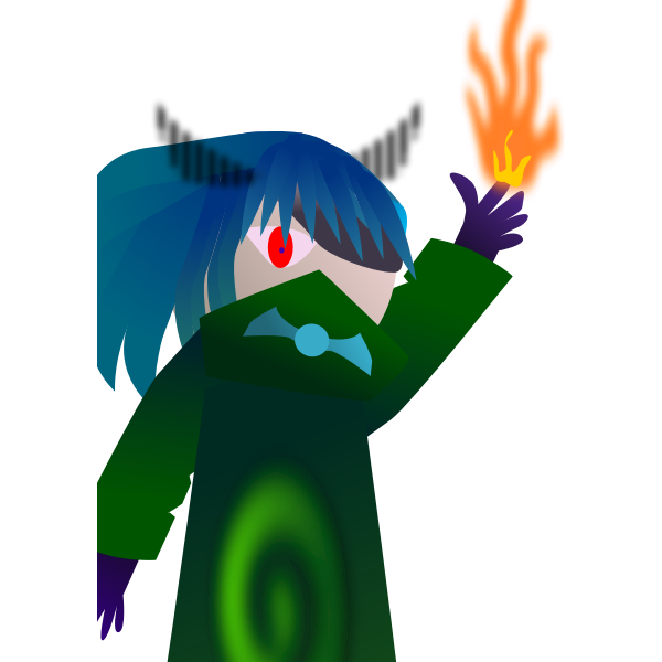 24 Flame Character