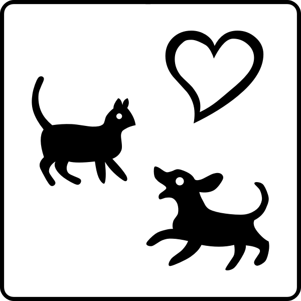 Dogs allowed hotel sign vector graphics
