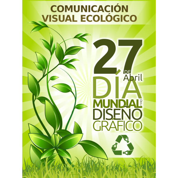 Vector drawing of ecological promotion poster