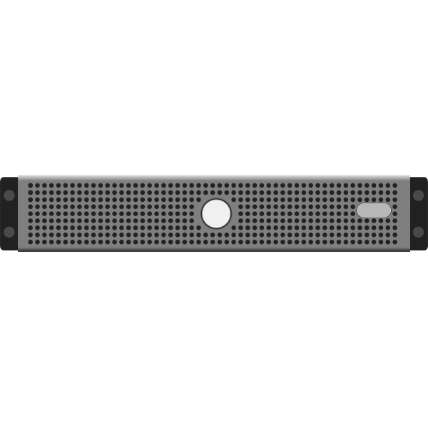 Computer server vector clip art