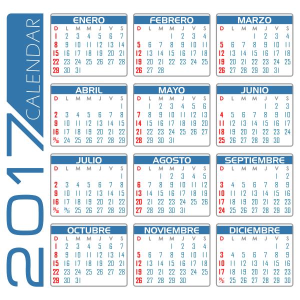 Calendar for 20187