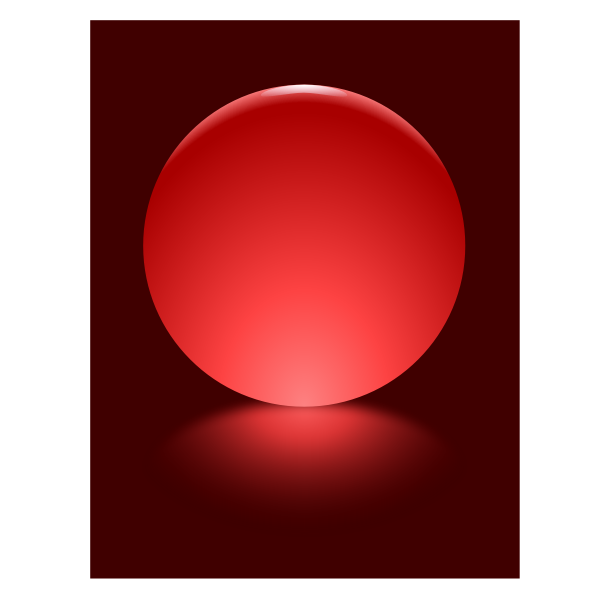 2 Red Sphere Blurred Reflection