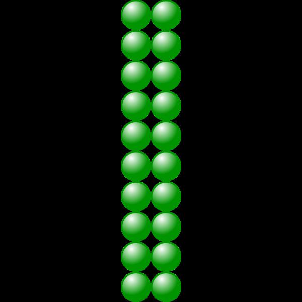 2x10 green balls