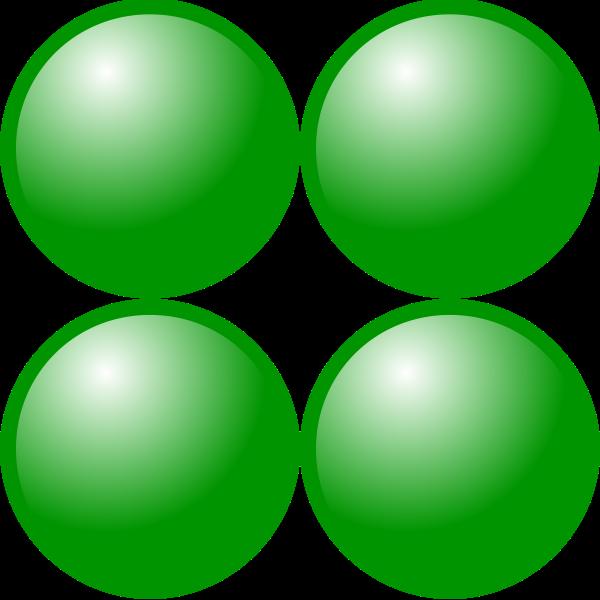 2x2 green balls