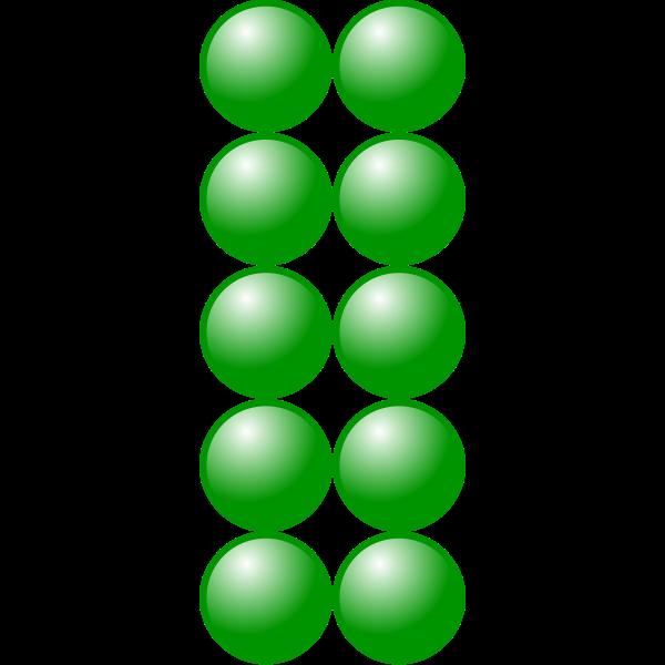 2x5 green balls