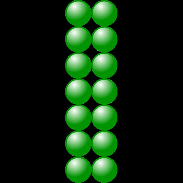 2x7 green balls