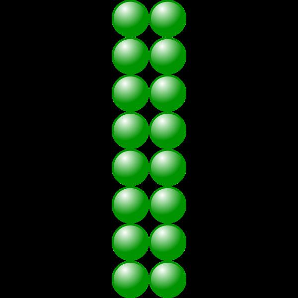 2x8 green balls