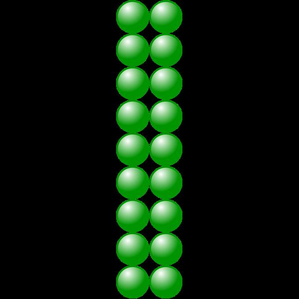 2x9 green balls