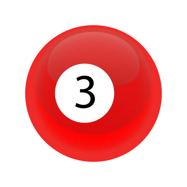 Red snooker ball 3