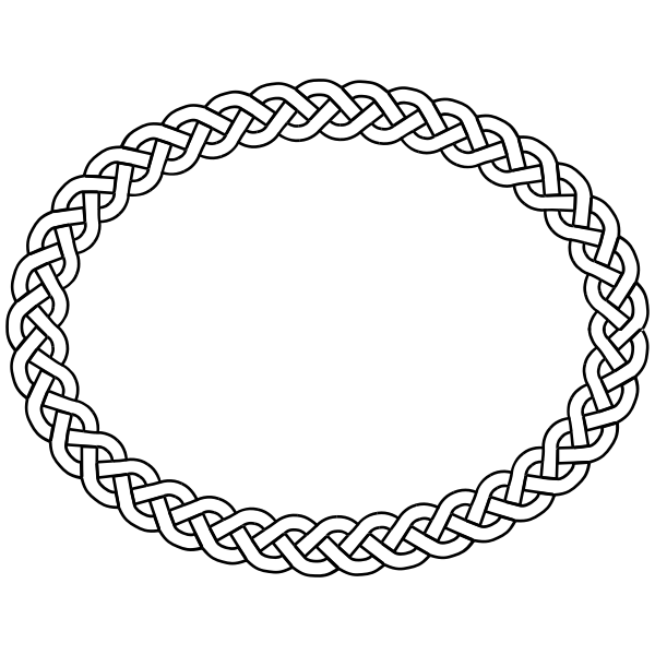 3-plait border oval