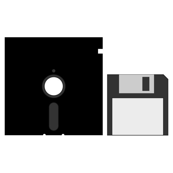 """3.5"""" and 5.25"""" floppy disks vector image"""