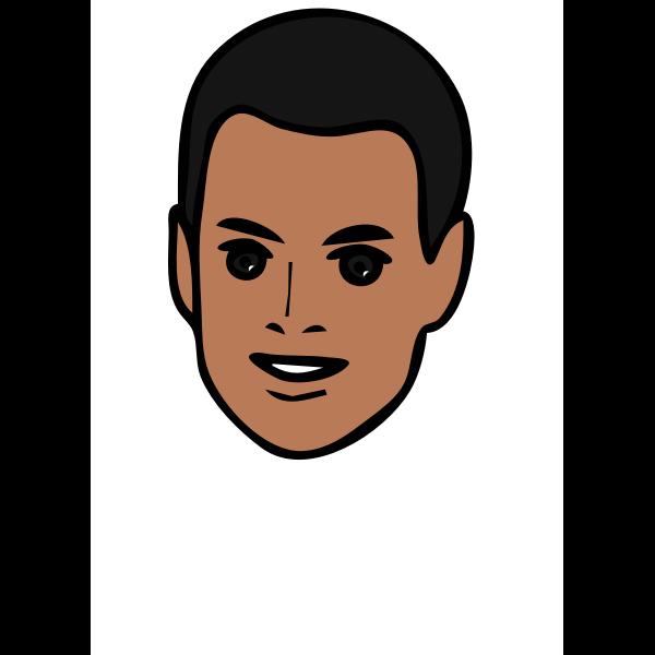 Male face clip art