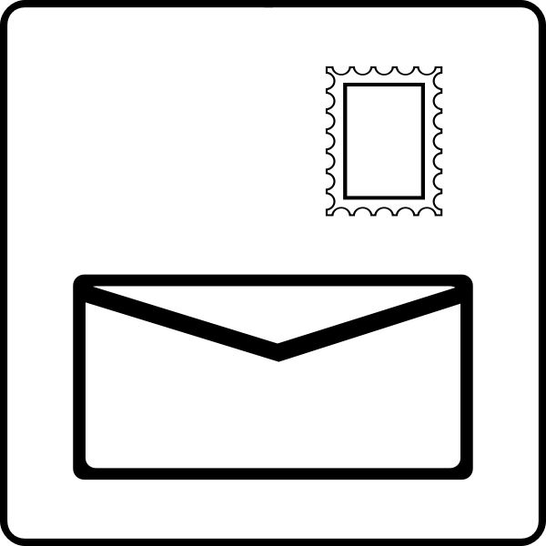 Envelope wirh stamp icon vector image