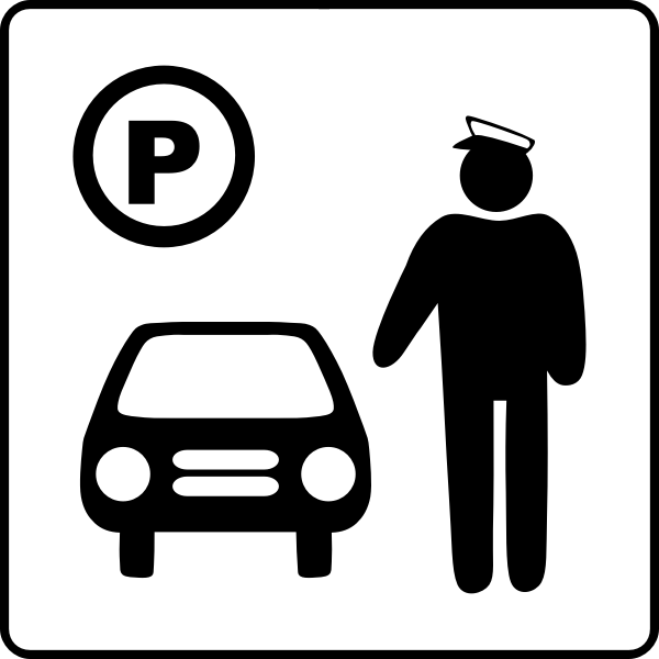 Vector icon for car parking attendant