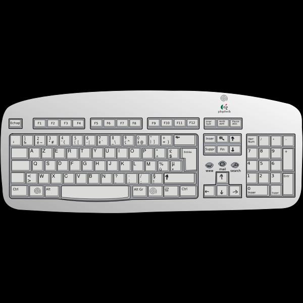 Logitech keyboard vector image