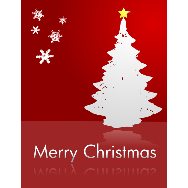 Merry Christmas in red color vector clip art
