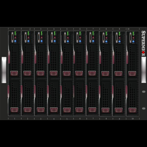 Server centre rack vector image