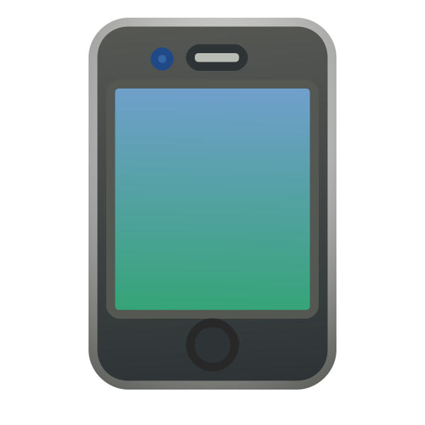 iPhone 4 blue vector illustration