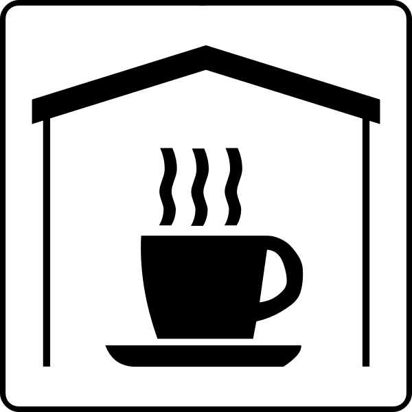 Vector symbol for coffee in room