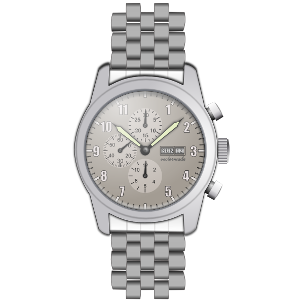 Metal watch vector drawing