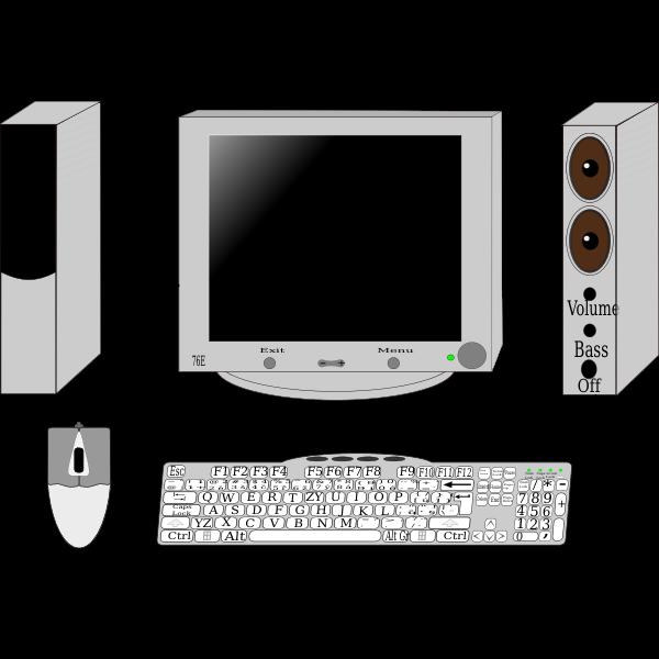 Set-up computer vector clip art