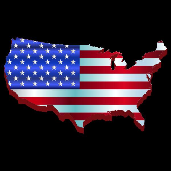 3D America's map