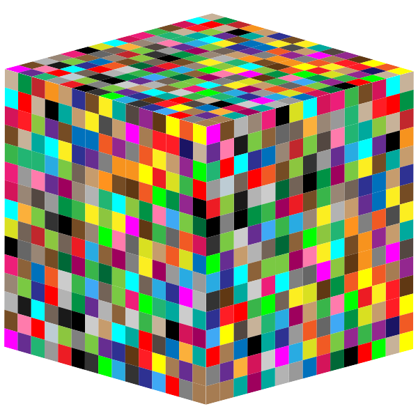 3D Multicolored cube