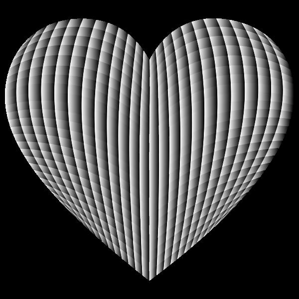 3D Prismatic Grid Heart 3