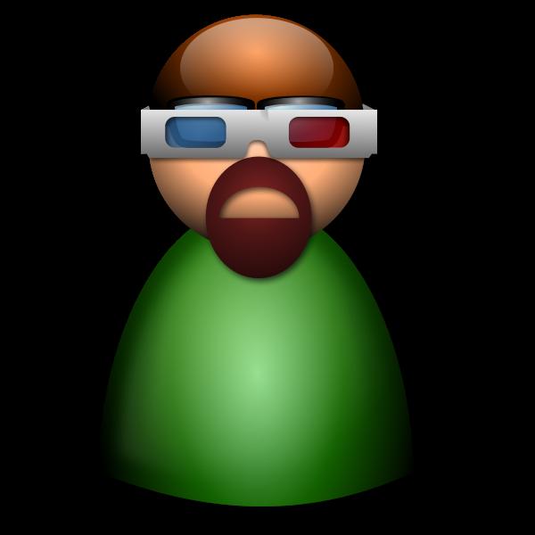 3d Glasses avatar vector image