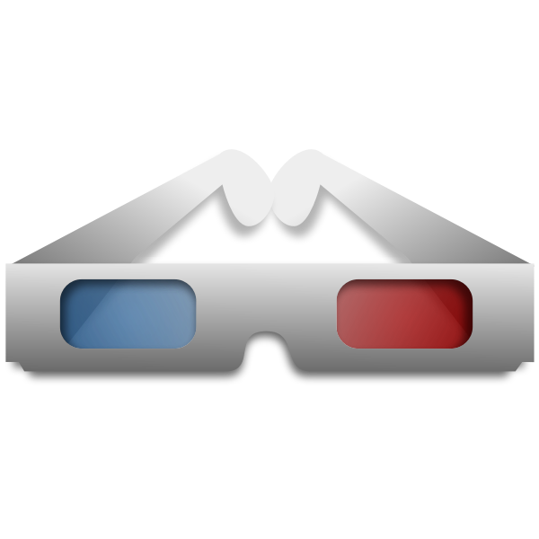 3D glasses vector clip art