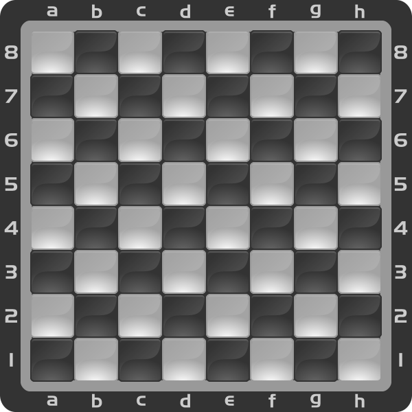 3 Chessboard Color Negro Clipart by DG RA