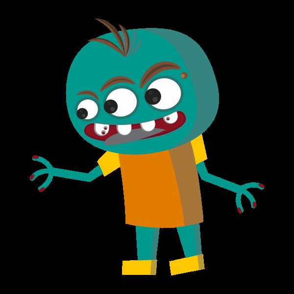 Three-eyed monster vector image