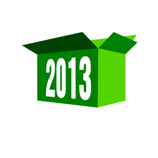 2013 green box vector clip art