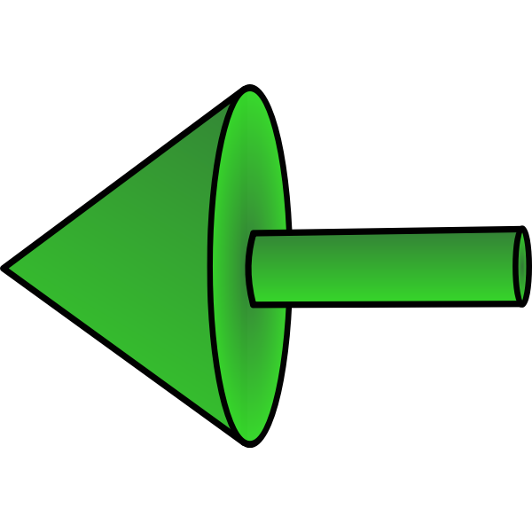 Green left arrow