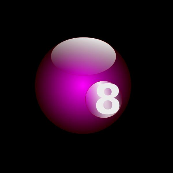 Purple snooker ball
