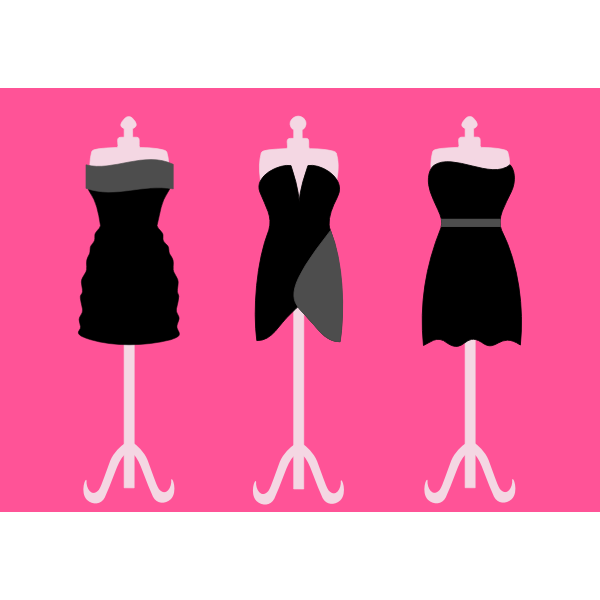 Lady outfit on a stand vector illustration