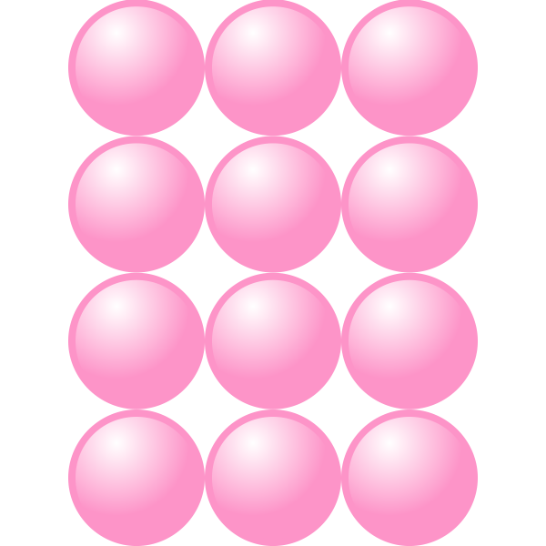 3x4 pink balls