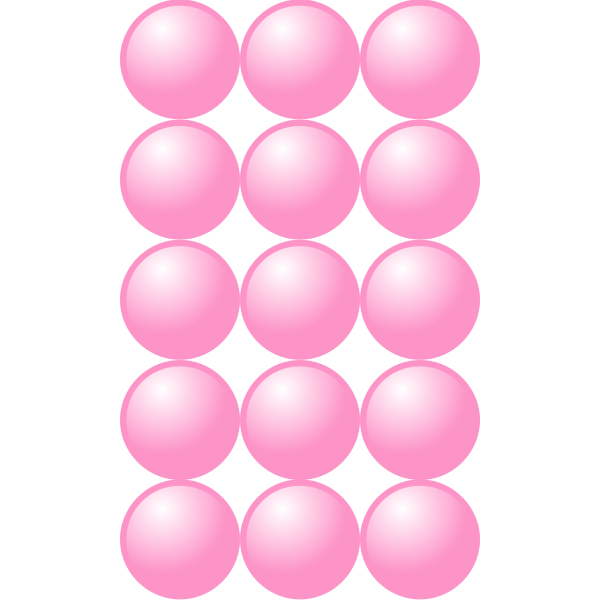 3x5 pink balls