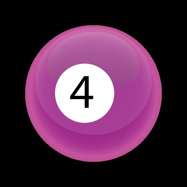 Pink snooker ball