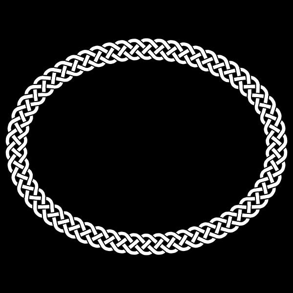 4-plait border oval