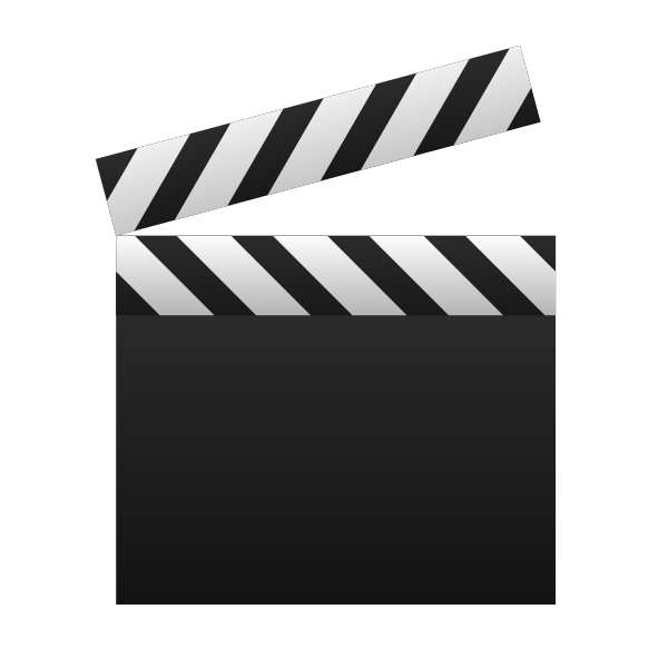 Blank clapperboard vector image